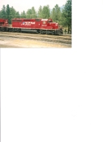 CP Rail SD40-2 with SD90MAC ready to pull another pipe train
