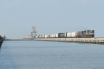 NS NB freight crossing Lake Pontchatrain