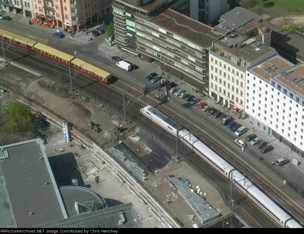 ICE Train and S-Bahn Meet