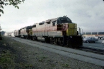 1310-36 Preparing to board the Algoma Central train to Hearst