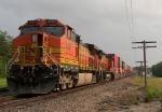 Tied Down Eastbound BNSF Intermodal Train