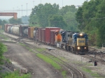 Scooting right along, WB CSX freight passes 51st ST interlocking on the B&OCT