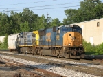 CSX 4806 & 434 provide the power for Q327-01's single car