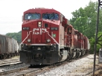 CP 8712 leads X741-08 on its westward journey