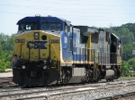 CSX 7845 & 8718 back into the yard as Q326-15