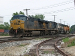 CSX 5317 waits for the signal at Plaster Creek to lead E445-21 west
