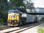 CSX 7841 heads east solo with Q326-22