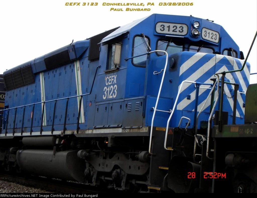 CEFX 3123  Ex- SP 9126  SD40-2  03/28/2006