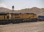 UP 9719 #3 power in a WB doublestack at 11:30am