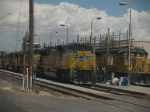UP 8520 (WB doublestack) and UP 1392 (WB local manifest) at the refueling pad at 2:42pm