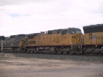 UP 9795 #4 power in an EB manifest at 1:21pm