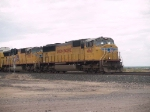 UP 4168 leads an EB autorack at 1:39pm