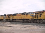 UP 4315 #2 power in an EB doublestack at 1:04pm