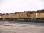 UP 7674 #3 power in an EB doublestack at 1:04pm
