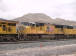 UP 3901 #2 power in a WB autorack at 1:17pm