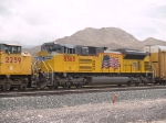 UP 8568 #4 power in a WB autorack at 1:17pm