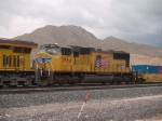 UP 3984 #2 power in a WB doublestack at 1:36pm