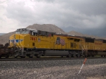 UP 7867 #1 rear DPU in a WB doublestack at 1:36pm
