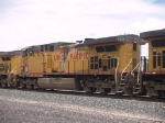 UP 6657 #2 power in an EB grain train at 12:56pm
