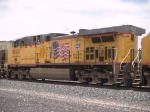 UP 5648 #3 power in an EB grain train at 12:56pm