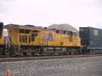 UP 7607 #3 power in a WB doublestack at 1:30pm