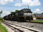 NS 9744 Westbound passing by Pitman Funeral home.