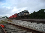 NS 9839 flies through Truesdale with a short K LINE stacktrain.
