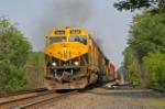 SU 100 approaches Otisville station