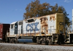 CSX 2214 heads north on a local freight