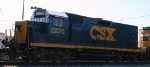 CSX 2220 sits outside the yard tower