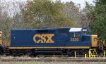 CSX 2220 sits in the yard