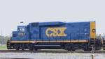 CSX 2232 displays its new paint