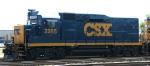 CSX 2285 leads a train