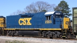 CSX 2355 trails unit 6955 on train F738