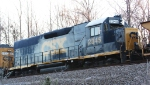 CSX 2345 idles on a frosty morning