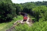 CN 2560 leads X 337 westbound up the hill