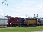HLCX 3812 Moves a Cut of Cars on an Industrial Lead