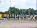 A Wide Array of Geeps Rest in the BNSF Yard