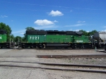 BNSF 7021 In Two-Tone Green!