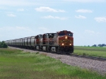 BNSF 4101 Leads a Northbound Grain Train