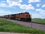 A Trio of Dash-9W's Take a Grain Train to Willmar