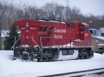 CP 8807 Sits on a Snowed-in Siding