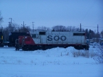 SOO 4434 Idles in the CP Yard