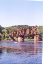 Swing bridge over the St. Croix River.