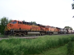 South Bound Grain Train Waits for a Track Warrant