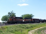 A Pair of H-I SD40-2's Rest With their Consist