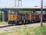 A BNSF Original and 2 Former ATSF B40-8W's Take Freight South to Nebraska
