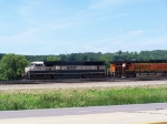 BNSF 9804 Leads Empties Into the Yard