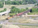 BNSF 5475 Crosses a River