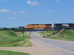 BNSF 4326 On the Bridge over US Hwy 18